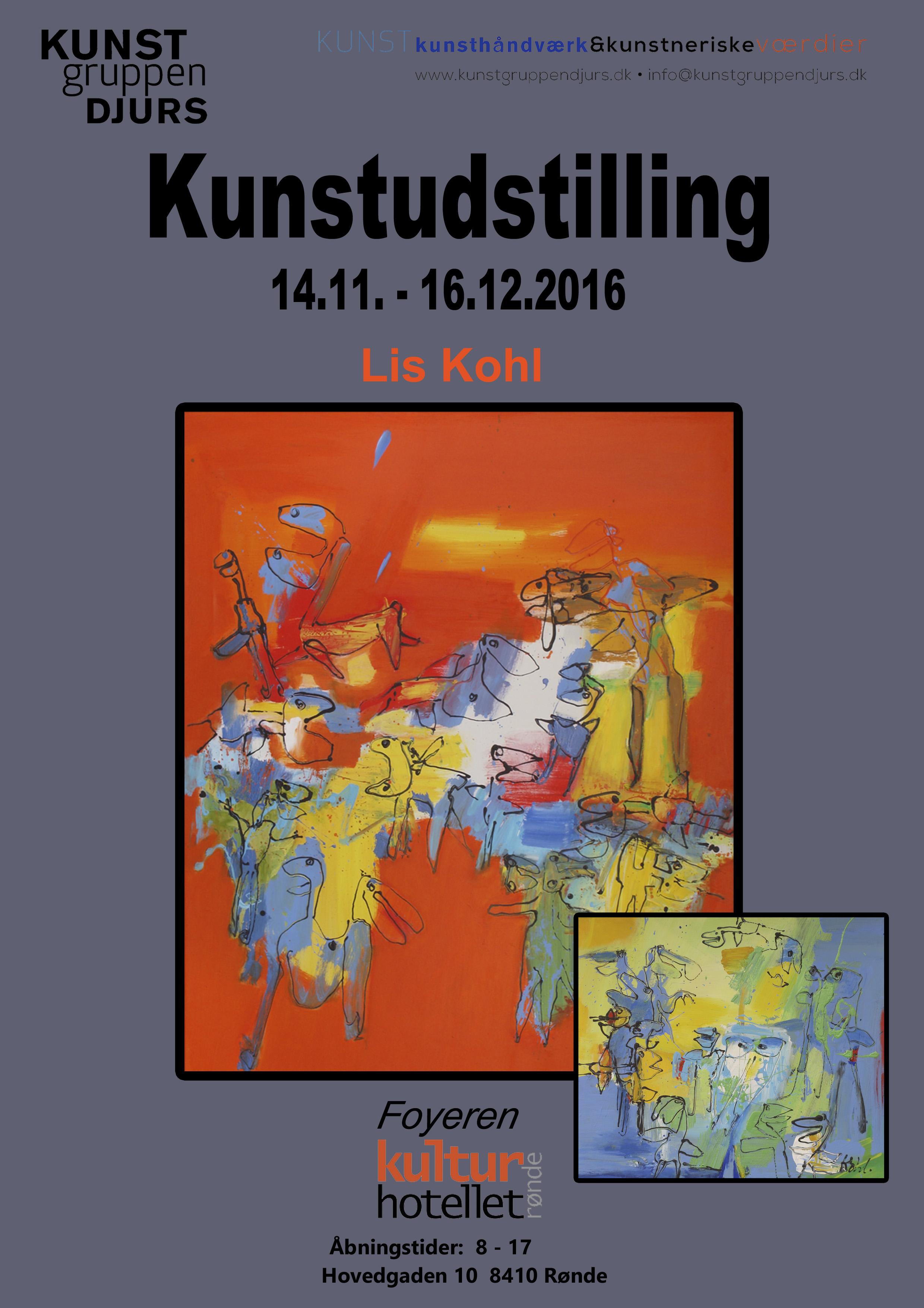 Lis Kohl udstiller på Kulturhotellet